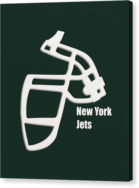 New York Jets Canvas Print - New York Jets Retro by Joe Hamilton