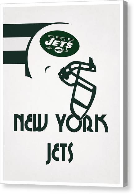 New York Jets Canvas Print - New York Jets Team Vintage Art by Joe Hamilton