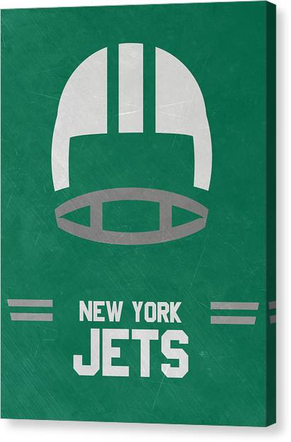 New York Jets Canvas Print - New York Jets Vintage Art by Joe Hamilton