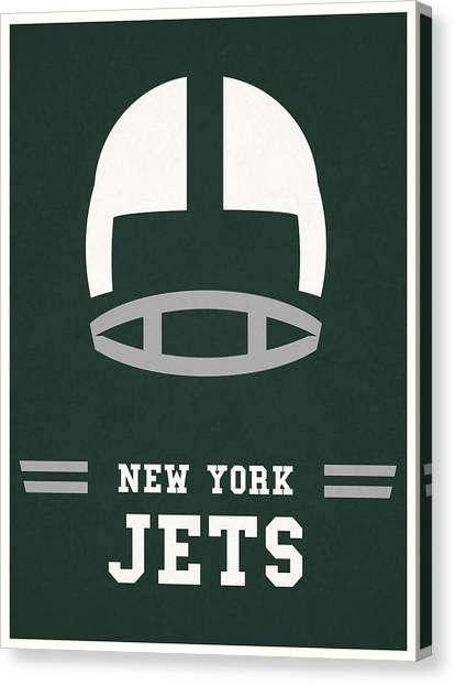 New York Jets Canvas Print - New York Jets Vintage Nfl Art by Joe Hamilton