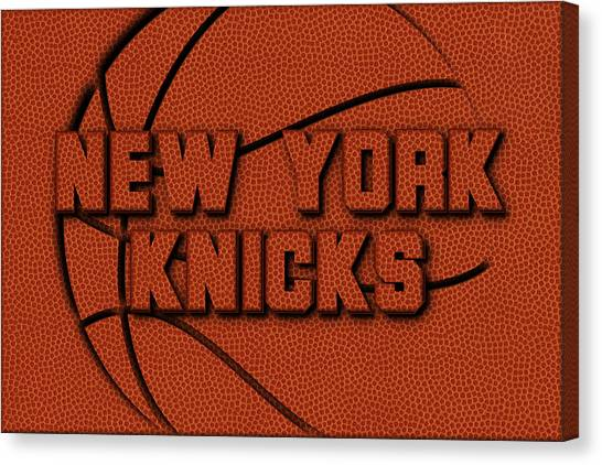 New York Knicks Canvas Print - New York Knicks Leather Art by Joe Hamilton
