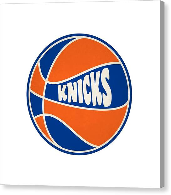 New York Knicks Canvas Print - New York Knicks Retro Shirt by Joe Hamilton