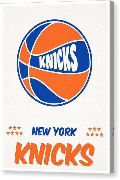 New York Knicks Canvas Print - New York Knicks Vintage Basketball Art by Joe Hamilton