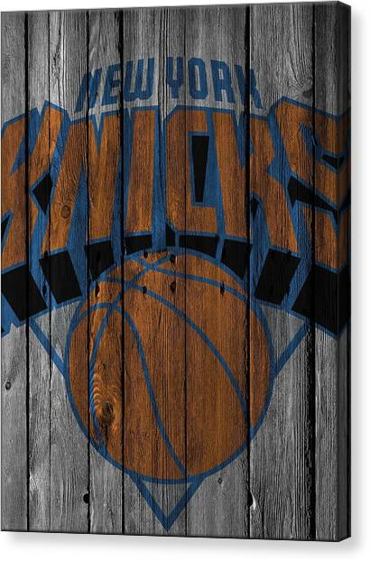 New York Knicks Canvas Print - New York Knicks Wood Fence by Joe Hamilton