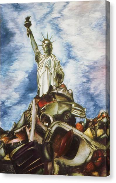 New York Liberty 77 - Fantasy Art Painting Canvas Print