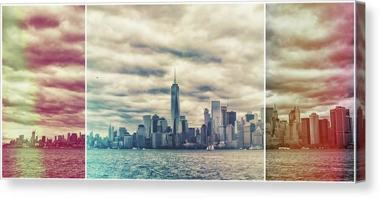 City Sunsets Canvas Print - New York Lightleak by Martin Newman
