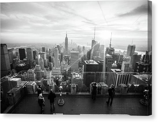 New York City Skyline Canvas Print - New York by Mariel Mcmeeking