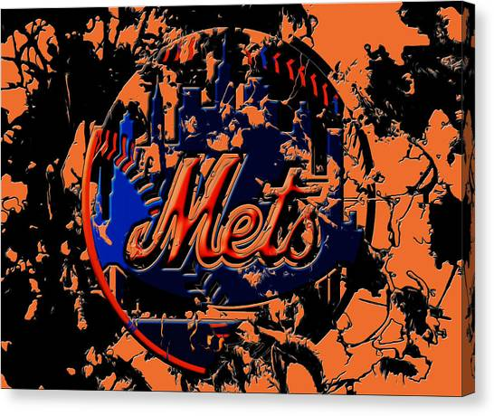 Miami Marlins Canvas Print - New York Mets 6c by Brian Reaves