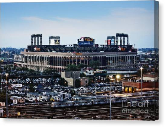 Citi Field Canvas Print - New York Mets Citi Field by Nishanth Gopinathan