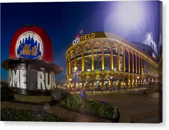 Citi Field Canvas Print - New York Mets Citi Field Stadium by Susan Candelario