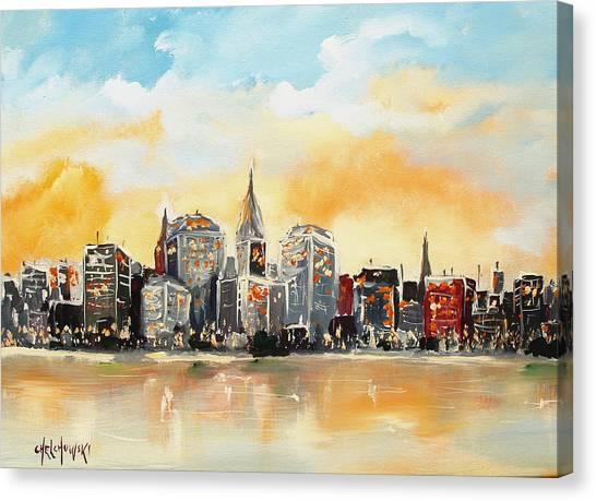 New York  Canvas Print by Miroslaw  Chelchowski