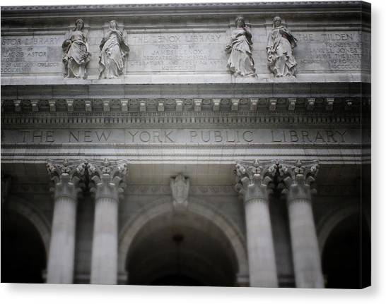 Libraries Canvas Print - New York Public Library- Art By Linda Woods by Linda Woods