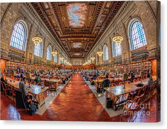 New York Public Library Main Reading Room I Canvas Print
