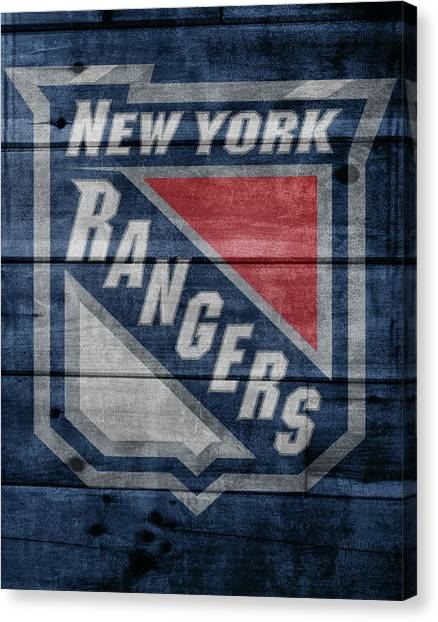 New York Rangers Canvas Print - New York Rangers Barn Door by Dan Sproul