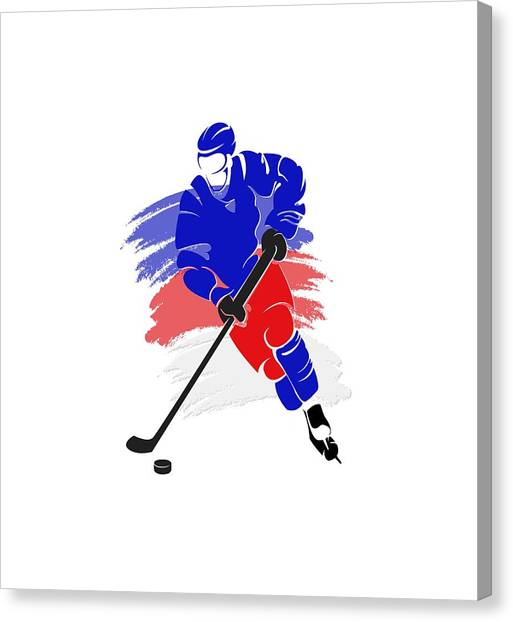 New York Rangers Canvas Print - New York Rangers Player Shirt by Joe Hamilton