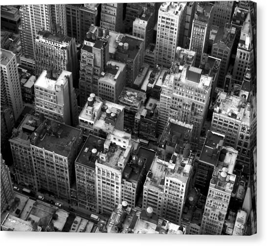 New York Rooftops Canvas Print by William  Todd