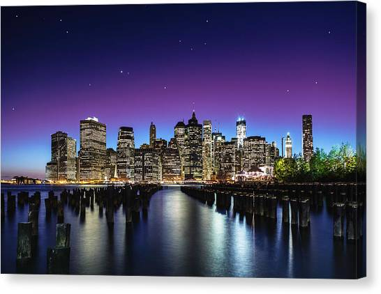 New York Skyline Canvas Print - New York Sky Line by Nanouk El Gamal - Wijchers