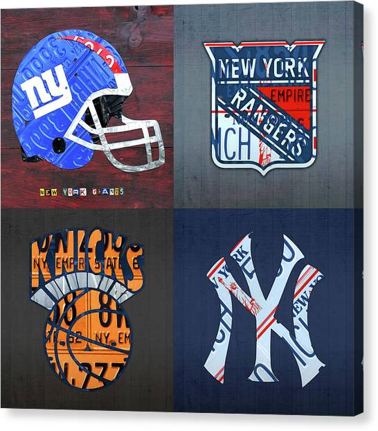 New York Knicks Canvas Print - New York Sports Team License Plate Art Giants Rangers Knicks Yankees by Design Turnpike