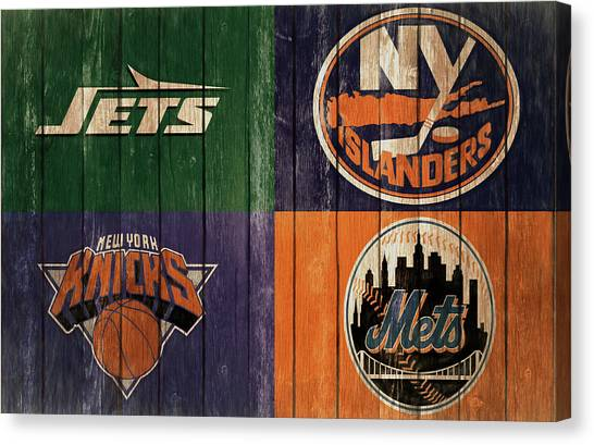 New York Islanders Canvas Print - New York Sports Teams Barn Door by Dan Sproul