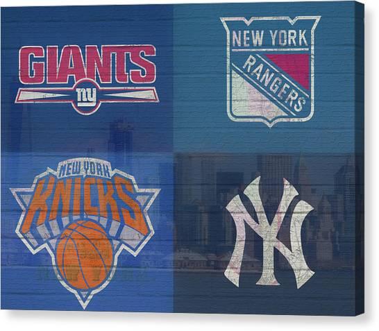 New York Knicks Canvas Print - New York Sports Teams by Dan Sproul