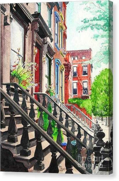New York Steps Canvas Print