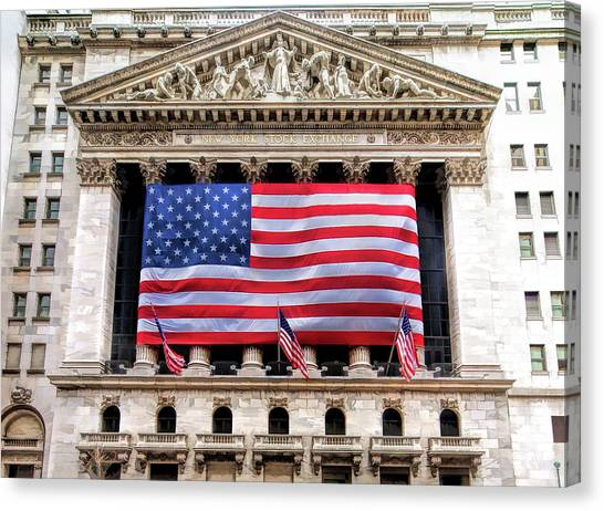 New York Stock Exchange Flag Canvas Print