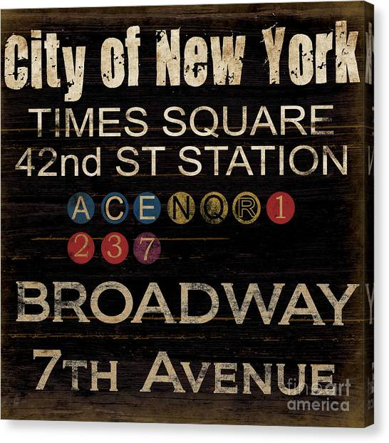 Broadway Canvas Print - New York Subway by Grace Pullen