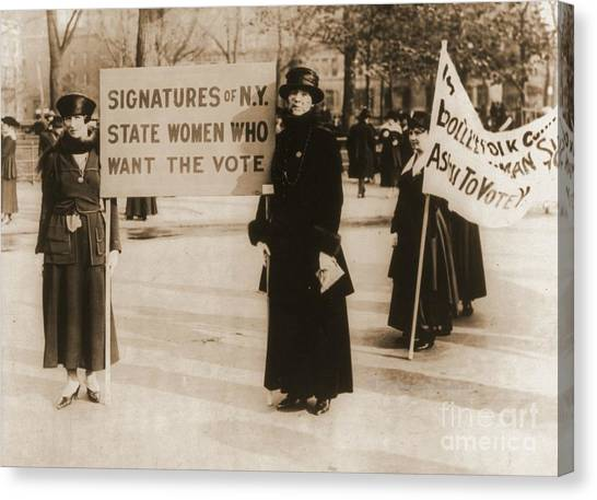 Womens Rights Canvas Print - New York Suffragettes by Padre Art