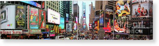 New York Times Square Panorama Canvas Print