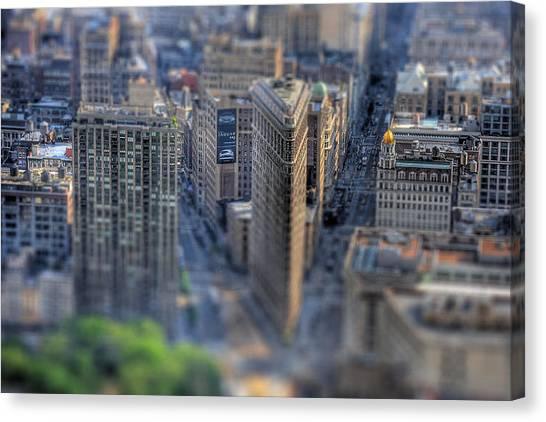 New York Toy Story - Flatiron Building Canvas Print