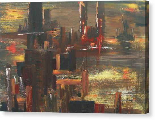 New York Tragedy Canvas Print by Miroslaw  Chelchowski