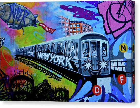 New York Train Canvas Print
