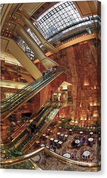 Canvas Print featuring the photograph New York Trump Tower  by Juergen Held