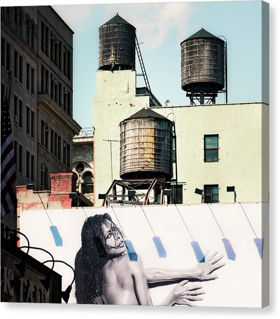 New York Water Towers 15 Canvas Print