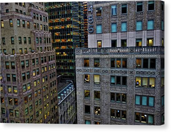 New York Windows Canvas Print