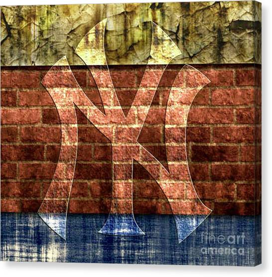 New York Yankees Brick 2 Canvas Print