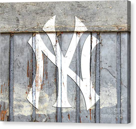 New York Yankees Rustic 2 Canvas Print