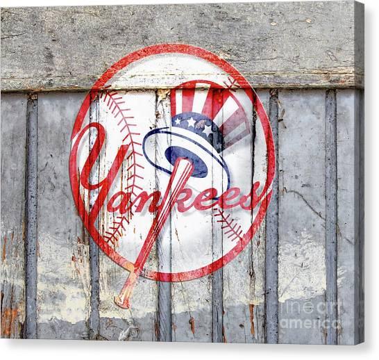 New York Yankees Top Hat Rustic 2 Canvas Print