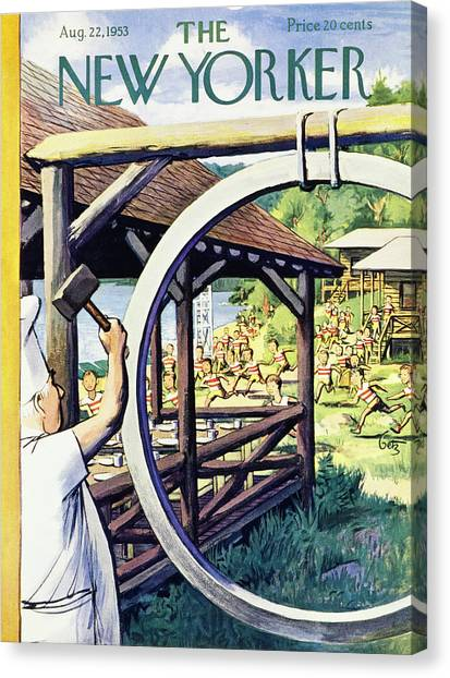 New Yorker August 22 1953 Canvas Print