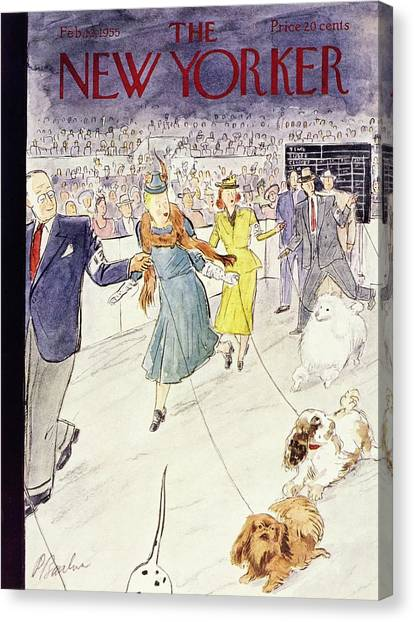 New Yorker February 12 1955 Canvas Print