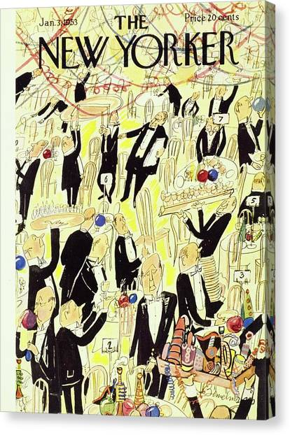 New Yorker January 03 1953 Canvas Print by Ludwig Bemelmans