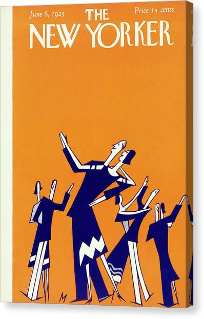 New Yorker Magazine Cover Of Couples Dancing Canvas Print