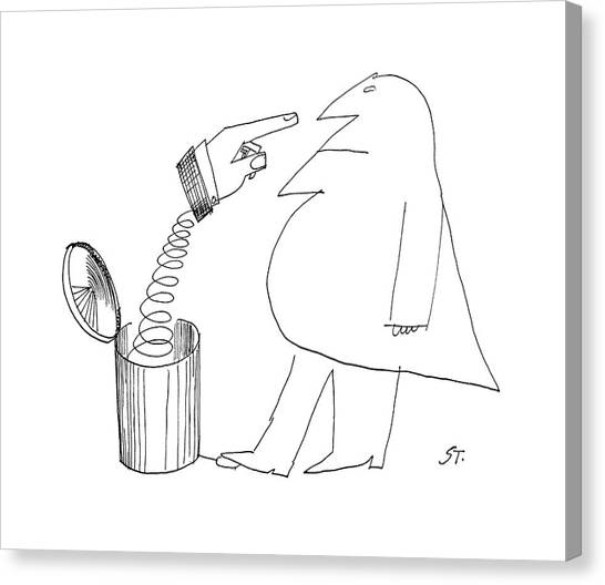 Accused Canvas Print - New Yorker May 14th, 1960 by Saul Steinberg