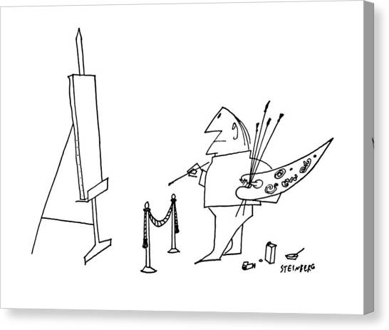 Rope Canvas Print - New Yorker May 27th, 1961 by Saul Steinberg