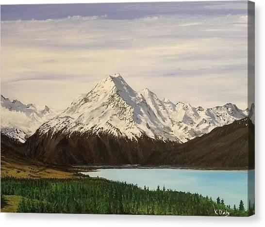 New Zealand Lake Canvas Print