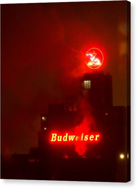 Newark Budweiser Canvas Print