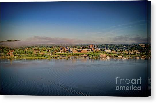 Newburgh, Ny From The Hudson River Canvas Print