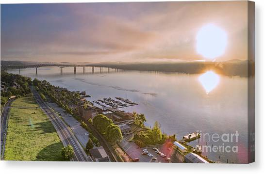 Newburgh Waterfront At Sunrise 3 Canvas Print