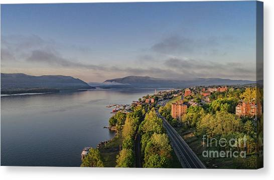 Newburgh Waterfront Looking South Canvas Print