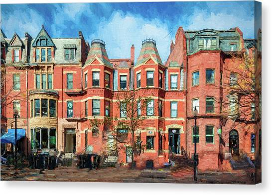 Newbury Street In Boston Canvas Print